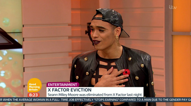Seann Miley Moore on Good Morning Britain - 9 November 2015.