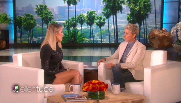 Ellen DeGeneres chats to Khloe Kardashian, due to air on Monday 16 November 2015.