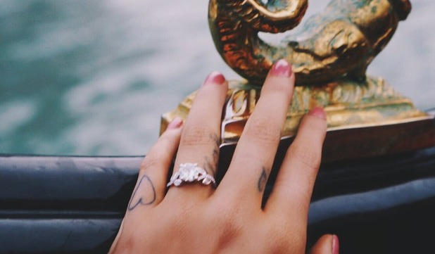 Union J's Josh Cuthbert and girlfriend Chloe Lloyd announce engagement, November 2015.