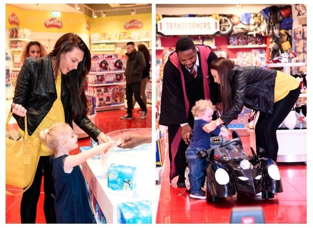 Michelle Heaton is pictured in The Toy Store, Oxford Street, London - 13th November 2015