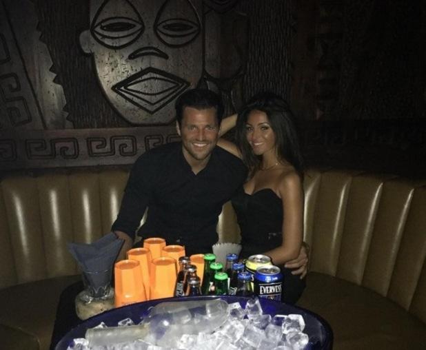 Mark Wright and Michelle Keegan at Mahiki in Dubai 11 November