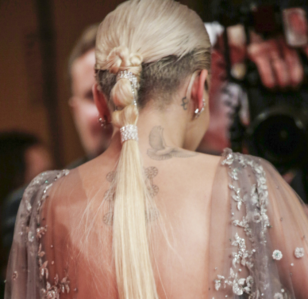 Rita Ora shows off deconstructed ponytail at Bambi Awards 13th november 2015