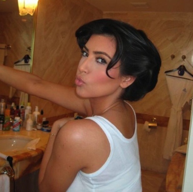 Kim Kardashian shares throwback pictures of her favourite hairstyles, Grease waves 13th November 2015