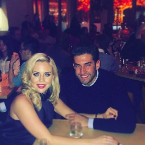 Lydia Bright and James 'Arg'Argent on a date night, 13 November 2015.