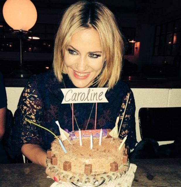 Olly Murs shares photo of Caroline Flack with her birthday cake 9 November