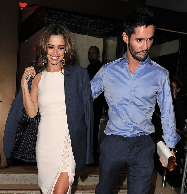 Cheryl Fernandez-Versini and Jean-Bernard at Ant & Dec's 40th birthday party held at Kensington Roof Gardens - 16 10 2015.