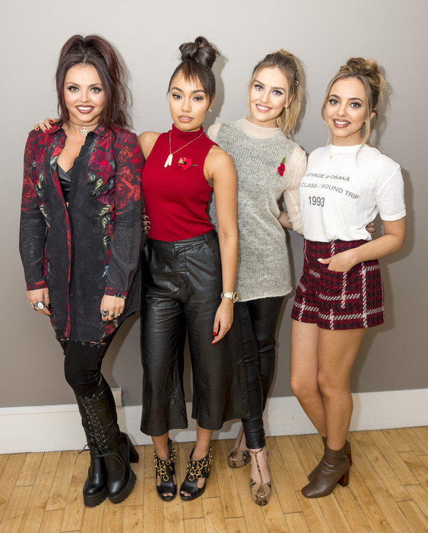 Little Mix perform and promote their upcoming album 'Get Weird' on ITV's Lorraine, 9th November 2015