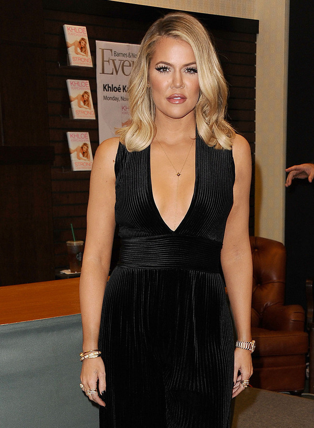 Khloe Kardashian poses at Strong Looks Better Naked Book Signing in Los Angeles, 10th November 2015