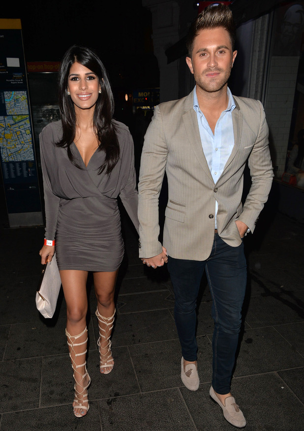 Jasmin Walia and Ross Worswick out at Cafe de Paris, London 7 November