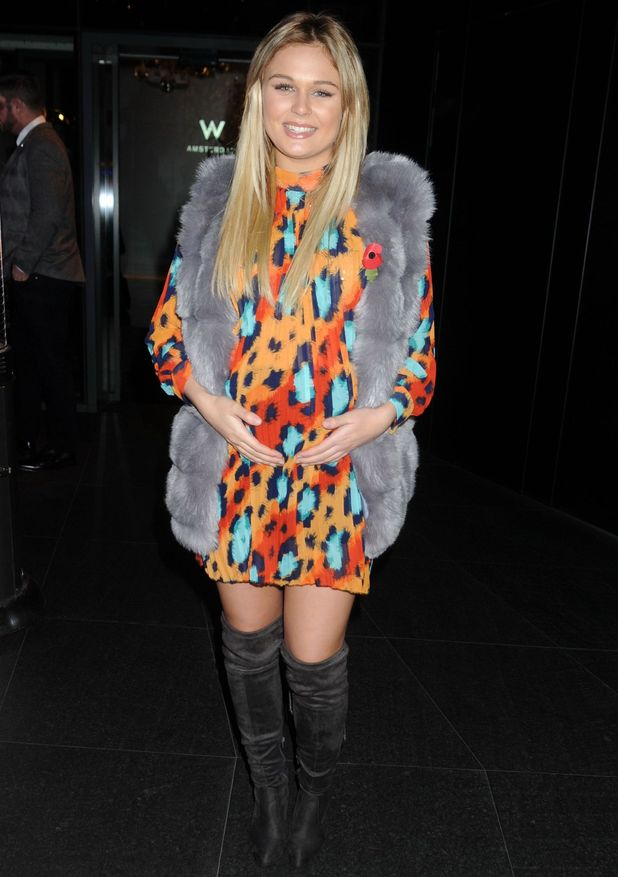 Pregnant Alex Weaver attends Jasmin Walia's collection launch with Miss Foxy, London 10 November