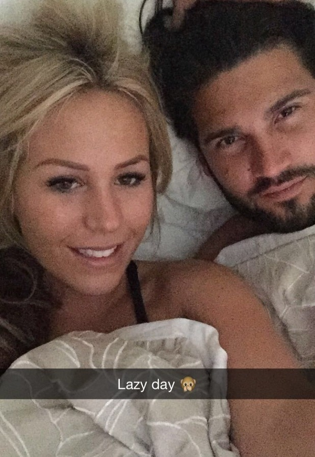 TOWIE's Dan Edgar and Kate Wright share bed selfie. 9 November 2015.