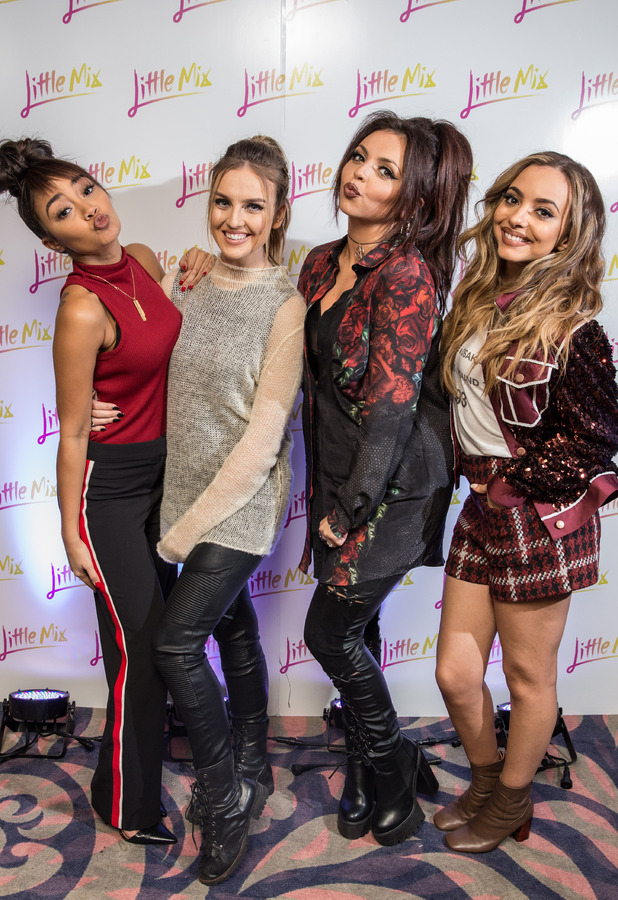 Little mix at their Get Weird album signing in London, 10th November 2015