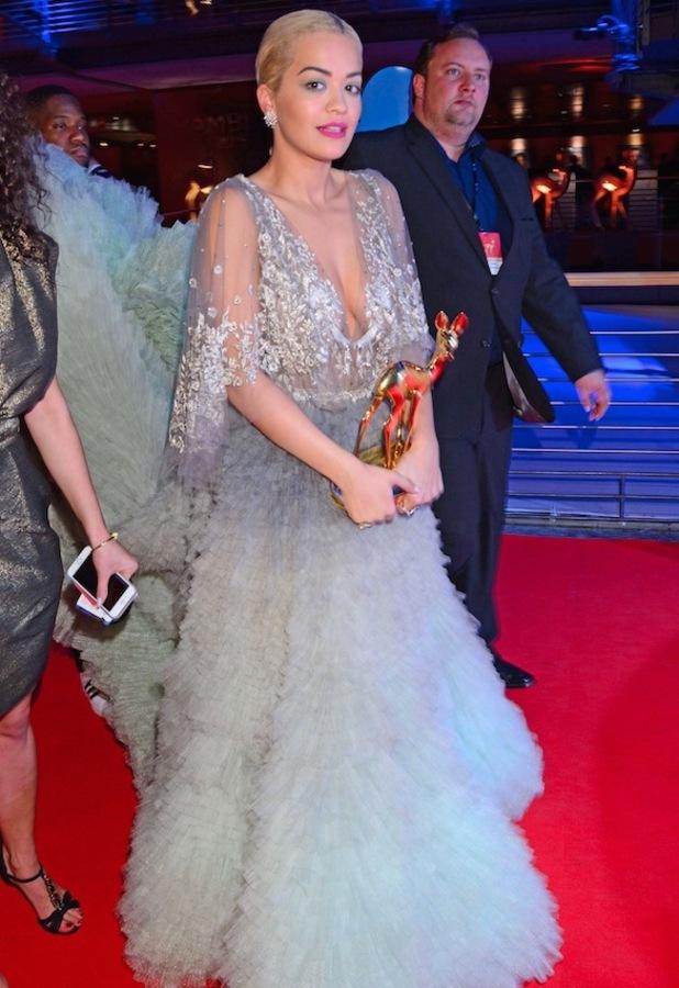 Singer Rita Ora attends Bambi Awards in Germany, red carpet appearance, 13th November 2015