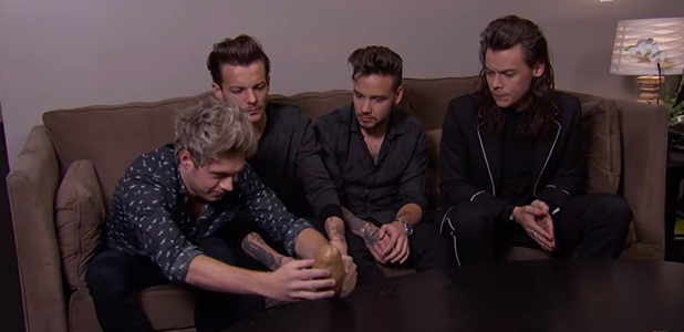 One Direction make a potato famous on Jimmy Kimmel
