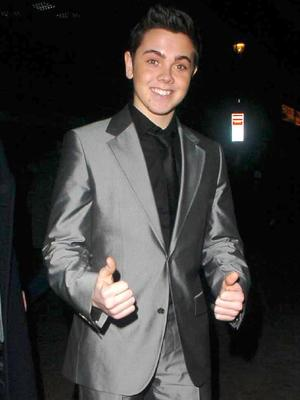 Ray Quinn leaving the X Factor wrap party at Sound, London December 2006