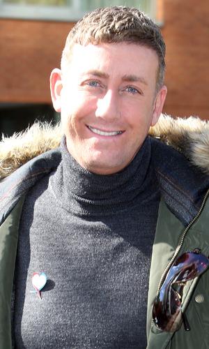 Christopher Maloney outside ITV studios. 27 May 2015.