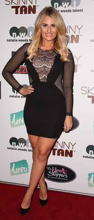 Danielle Armstrong attends the Skinny Tan launch party in London, 20th November 2015