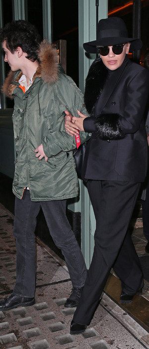 Rita Ora leaving Sexy Fish Restaurant in Berkeley Square London with brother Don, 19th November 2015