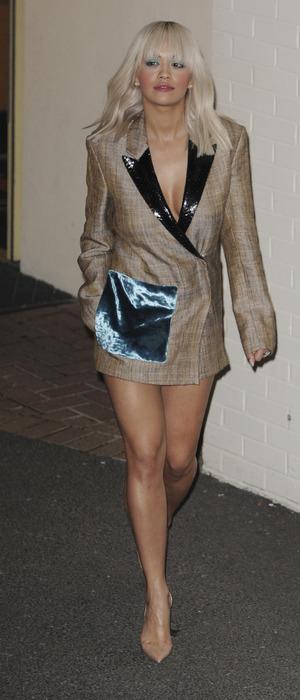 Rita Ora leaving X Factor Fountain studios in London, 16th November 2015