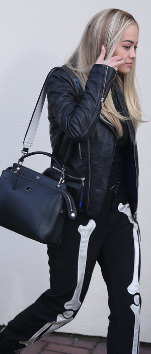 Rita Ora out and about in London wearing skeleton trousers, 20th November 2015