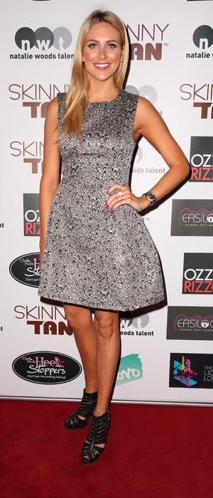 Stephanie Pratt wears AX Paris dress to Skinny Tan launch party in London, 20th November 2015