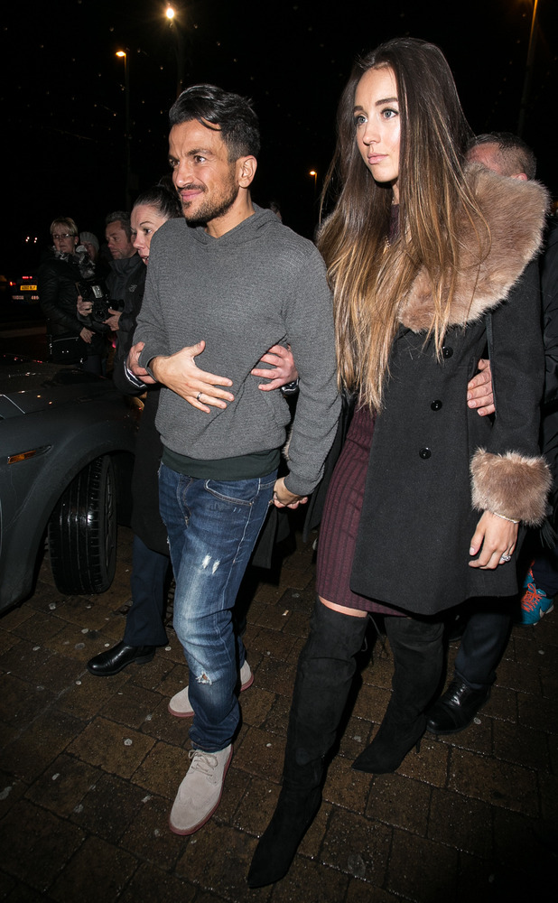 Peter Andre and Emily MacDonagh attend the Strictly Come Dancing afterparty at Blackpool, 21 November 2015.