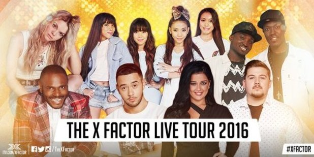 Che, Anton, Lauren, Reggie 'N' Bollie, Louisa, 4th Impact and Mason confirmed for X Factor's live tour 2016.