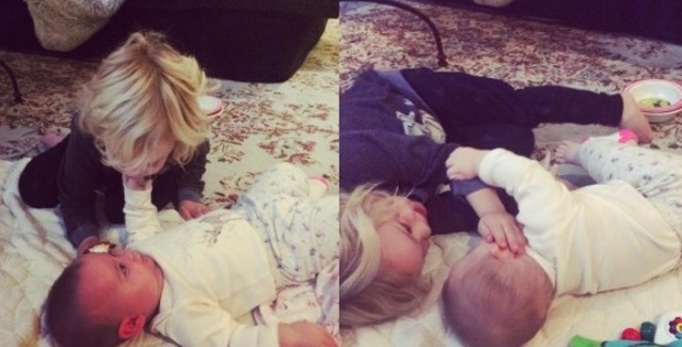 Lisa Osbourne shares picture of baby Andy and Pearl - 19 Nov 2015