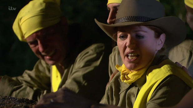 Yvette Fielding and Duncan Bannatyne on 'I'm a Celebrity... Get Me Out of Here! 15 November 2015.