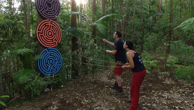 Vicky Pattison and Tony Hadley on I'm A Celeb, 21 November 2015. 21 Nov 2015