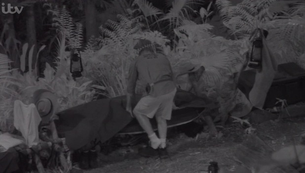 Duncan Bannatyne accidentally heads for Lady C's bed on I'm A Celebrity...Get Me Out Of Here!  - 19 November 2015.