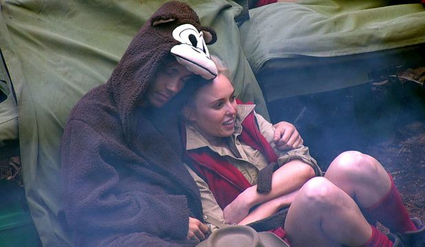 I'm A Celebrity...Get Me Out Of Here!' TV Show, Australia - 17 Nov 2015 George Shelley cuddling Jorgie Porter in camp.