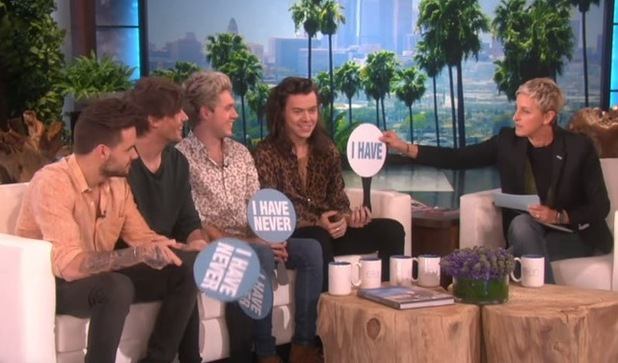 One Direction play 'Never Have I Ever' with Ellen DeGeneres 17 November