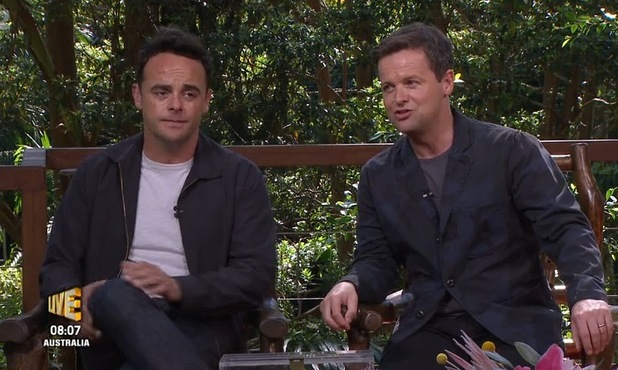 I'm A Celeb hosts Ant and Dec on I'm A Celebrity...Get Me Out Of Here NOW! 19 November 2015.