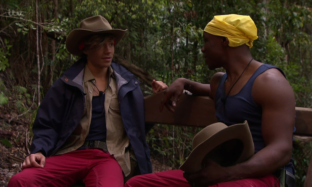 George Shelley and Chris Eubank on 'I'm a Celebrity... Get Me Out of Here! 15 November 2015.