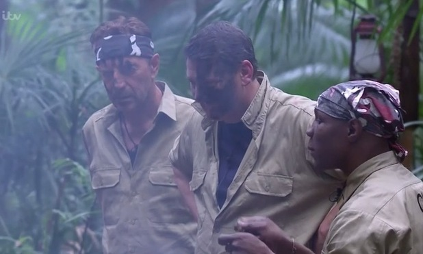 'I'm a Celebrity, Get Me Out Of Here!' TV Programme, Australia - 16 Nov 2015 Chris Eubank, Tony Hadley, Duncan Bannatyne try to reason with Lady C.