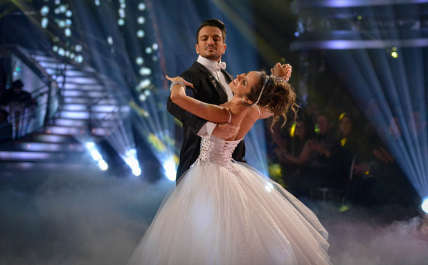 Strictly Come Dancing: Janette Manrara and Peter Andre. 15 November 2015.