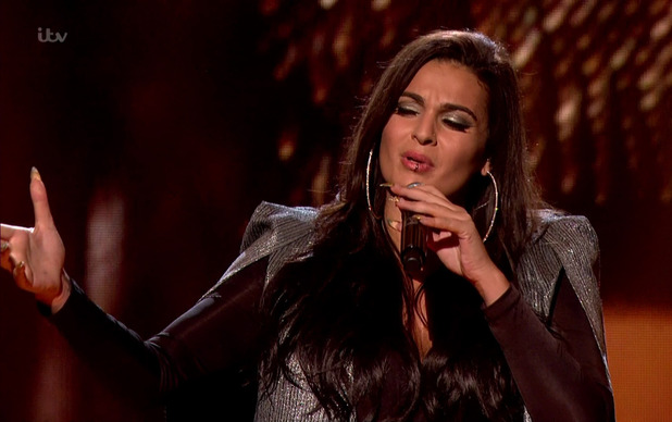 Monica Michael performs in the sing off, The X Factor 15 November