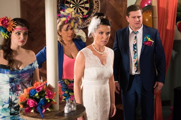 Hollyoaks, Reenie reels from Harry's accusations, Wed 18 Nov