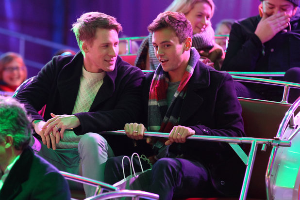 Tom Daley and Dustin Lance Black - Winter Wonderland VIP Launch, London, Britain - 19 Nov 2015