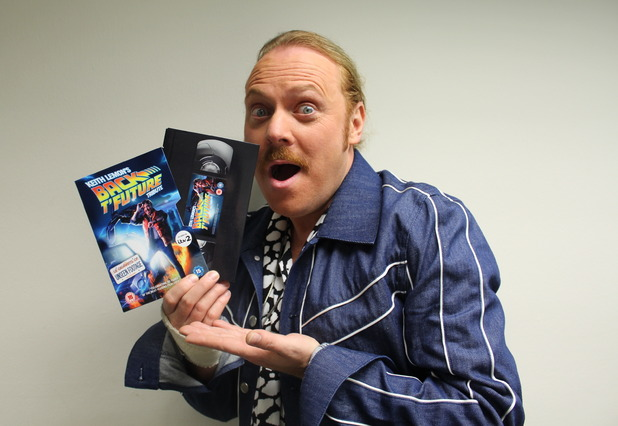 Keith Lemon goes back in time for his Back T'Future Tribute on DVD. 16 November 2015.