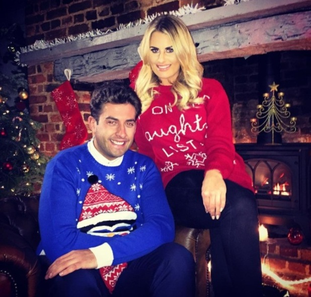Co-stars Arg and Danielle film promo for The Only Way Is Essexmas. 19 November 2015.