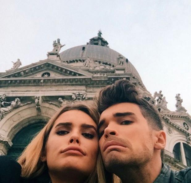 Josh Cuthbert and fiancee Chloe Lloyd in Venice 16 November