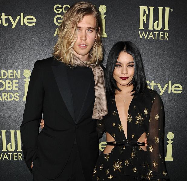 Vanessa Hudgens and boyfriend Austin Butler at Golden Globe 2015 Hollywood event, 18th November 2015