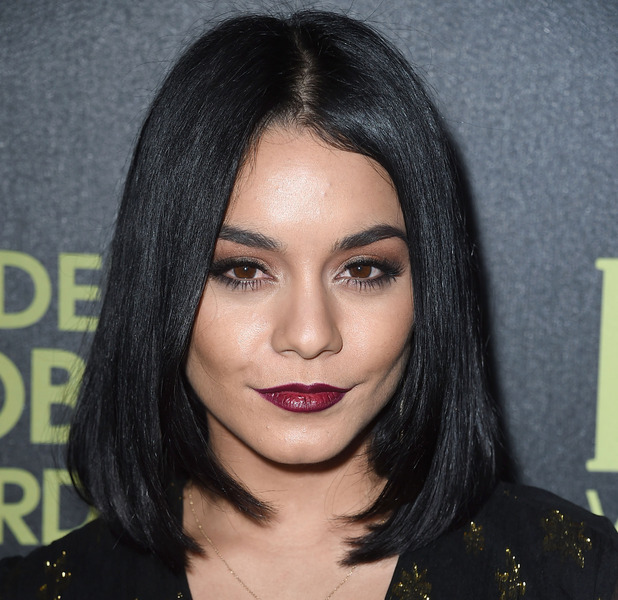 Vanessa Hudgens shows off vampy make-up look at the Hollywood Foreign Press Association and InStyle celebrate the 2016 Golden Globe Award Season event in Los Angeles, 18th November 2015
