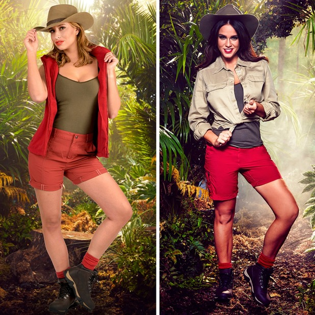I'm A Celebrity 2015 late camp arrival: Ferne McCann and Vicky Pattison collage. November 2015.