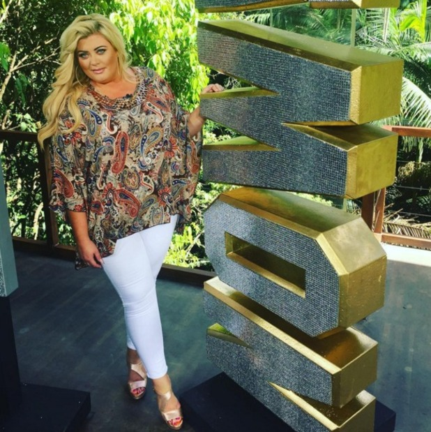 Gemma Collins poses in one of her Adele paisley print tops for I'm A Celeb guest return, 16 November 2015