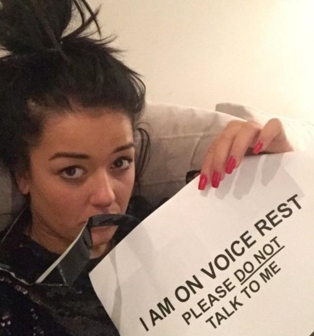 X Factor star Lauren Murray reveals she's on voice rest, Twitter 17 November