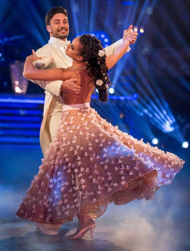 Georgia May Foote and dance partner Giovanni Pernice perform on Strictly Come Dancing, 21 November 2015.