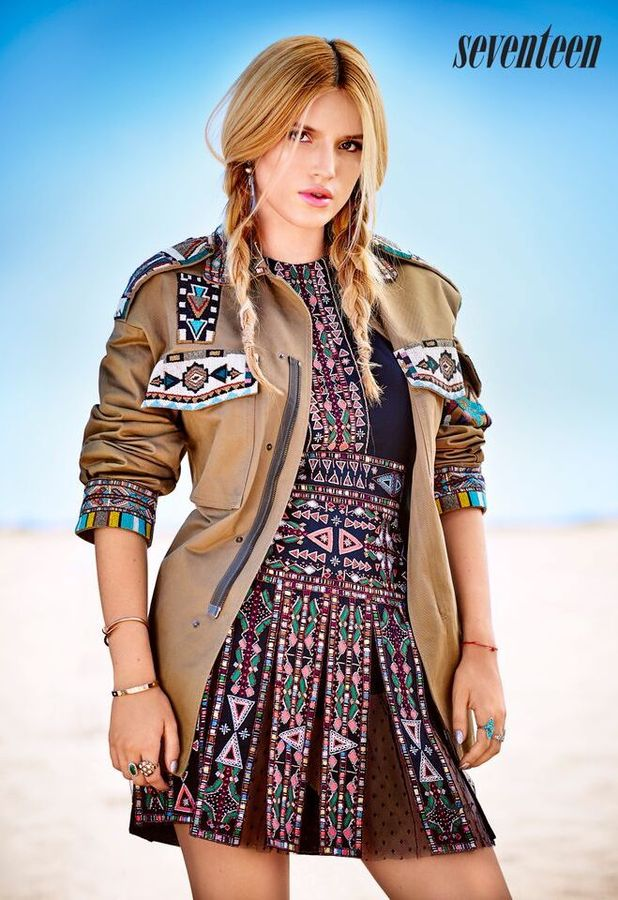 Bella Thorne appears in Seventeen Magazine cover shoot, December 2015/January 2016 issue, 18th November 2015